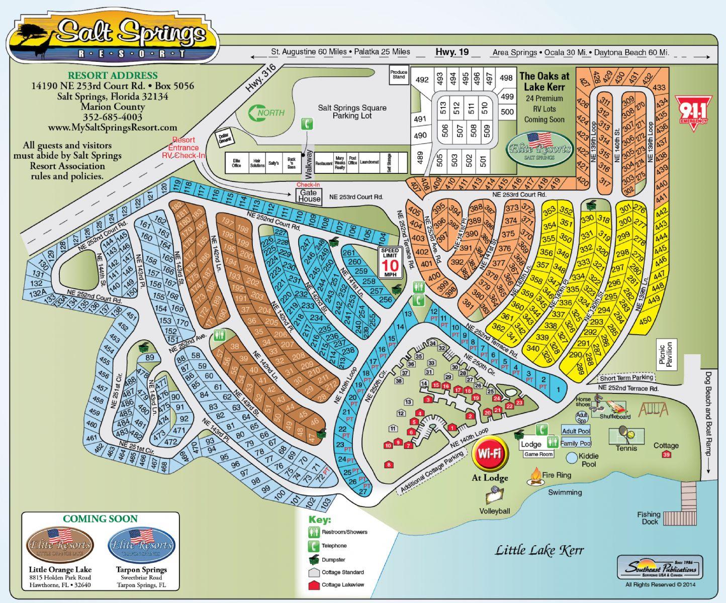 Salt Springs Campground Florida Map Of The Resort